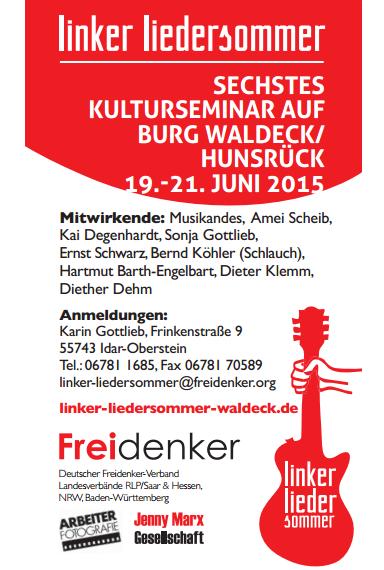 Linker Liedersommer auf Burg Waldeck 2015